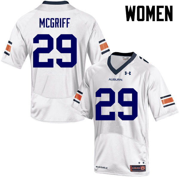 Women Auburn Tigers #29 Jaylen McGriff College Football Jerseys-White