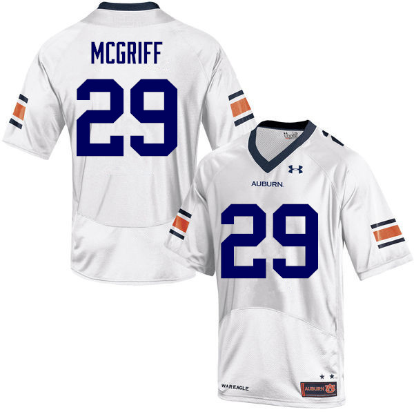 Men Auburn Tigers #29 Jaylen McGriff College Football Jerseys-White