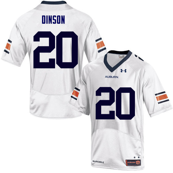 Men Auburn Tigers #20 Jeremiah Dinson College Football Jerseys Sale-White
