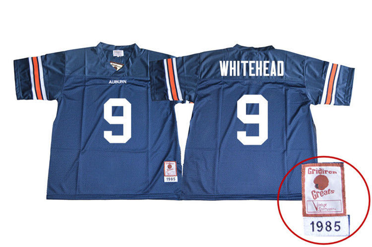 1985 Throwback Men #9 Jermaine Whitehead Auburn Tigers College Football Jerseys Sale-Navy