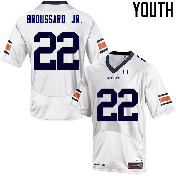 Youth Auburn Tigers #22 John Broussard Jr. College Football Jerseys Sale-White