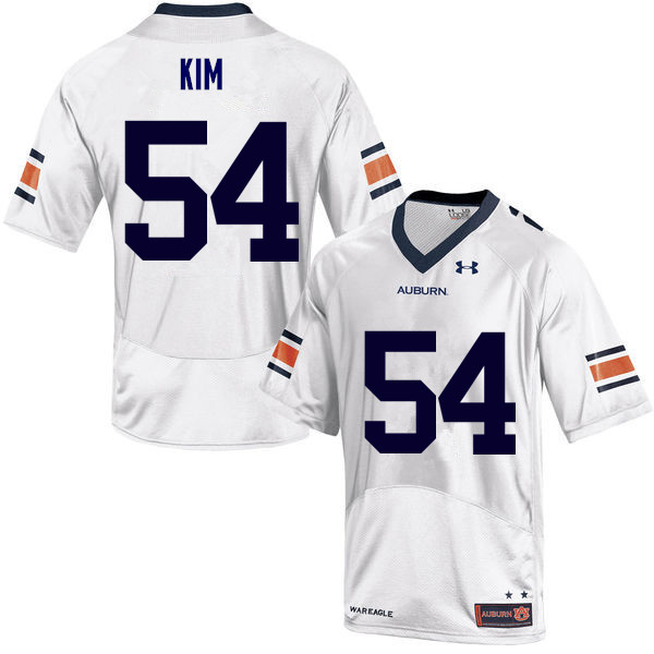 Men Auburn Tigers #54 Kaleb Kim College Football Jerseys Sale-White