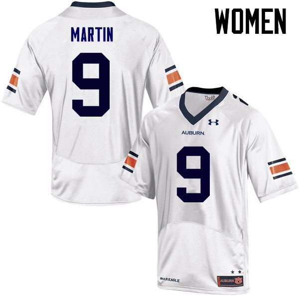 Women Auburn Tigers #9 Kam Martin College Football Jerseys Sale-White