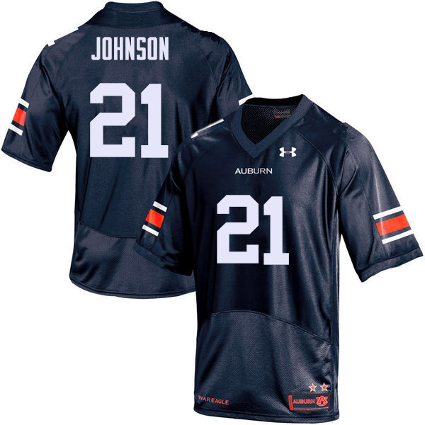 Men Auburn Tigers #21 Kerryon Johnson College Football Jerseys Sale-Navy