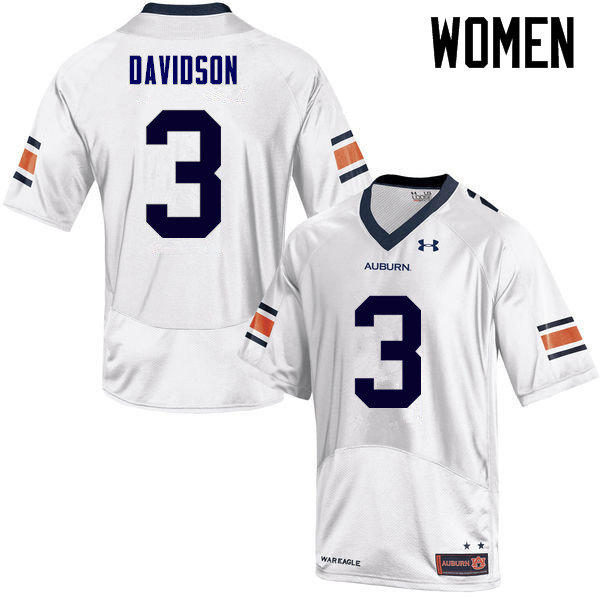 Women Auburn Tigers #3 Marlon Davidson College Football Jerseys Sale-White
