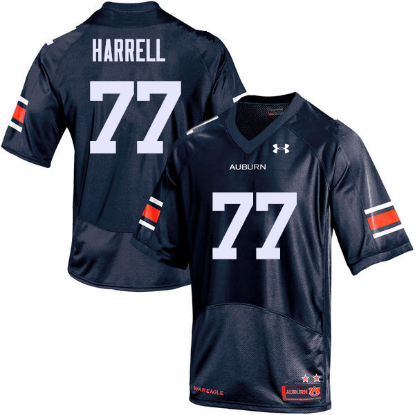 Men Auburn Tigers #77 Marquel Harrell College Football Jerseys Sale-Navy