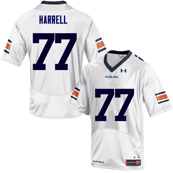 Men Auburn Tigers #77 Marquel Harrell College Football Jerseys Sale-White