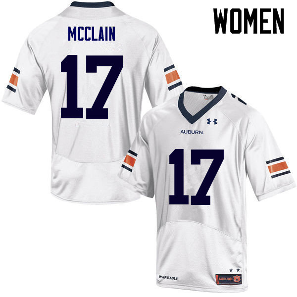 Women Auburn Tigers #17 Marquis McClain College Football Jerseys Sale-White