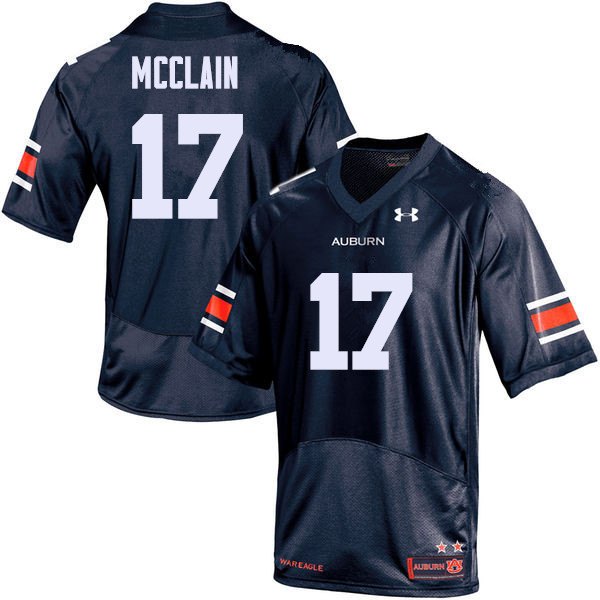 Men Auburn Tigers #17 Marquis McClain College Football Jerseys Sale-Navy