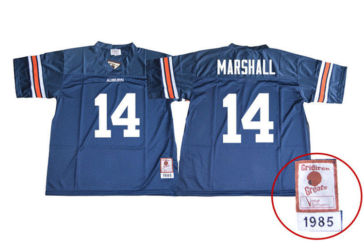 1985 Throwback Men #14 Nick Marshall Auburn Tigers College Football Jerseys Sale-Navy