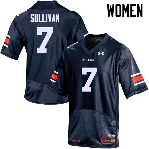 Women Auburn Tigers #7 Pat Sullivan College Football Jerseys Sale-Navy