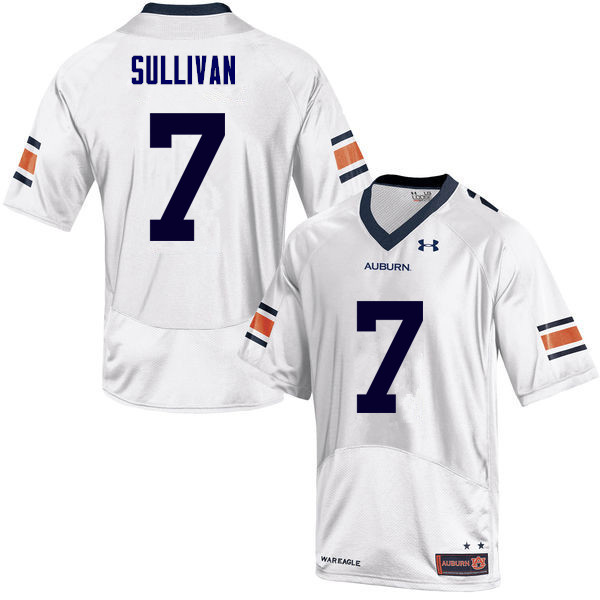 Men Auburn Tigers #7 Pat Sullivan College Football Jerseys Sale-White