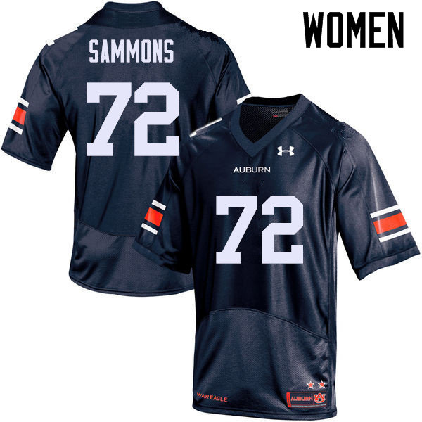 Women Auburn Tigers #72 Prince Micheal Sammons College Football Jerseys Sale-Navy