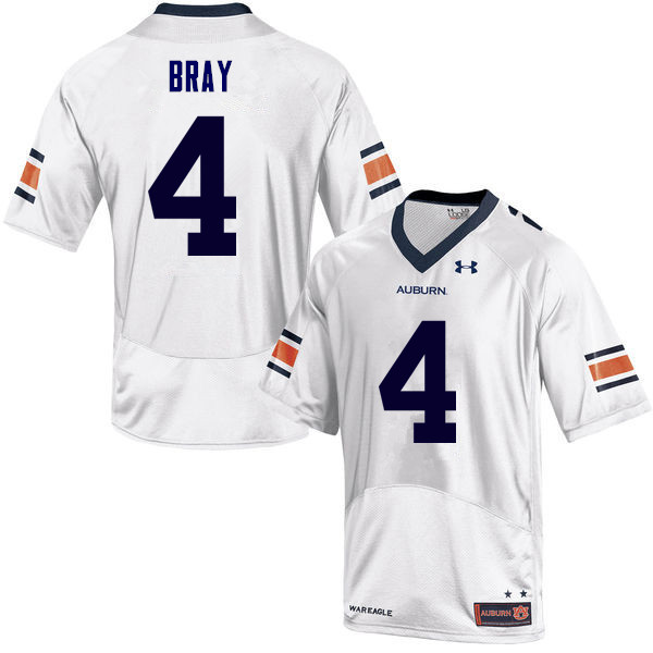 Men Auburn Tigers #4 Quan Bray College Football Jerseys Sale-White
