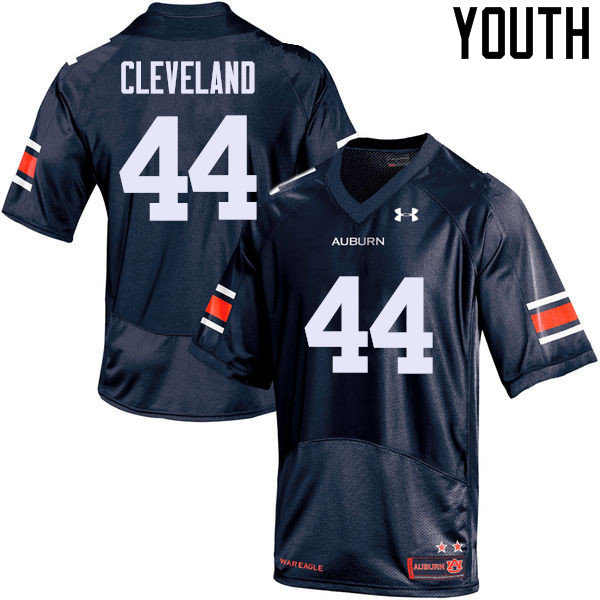 Youth Auburn Tigers #44 Rawlins Cleveland College Football Jerseys Sale-Navy
