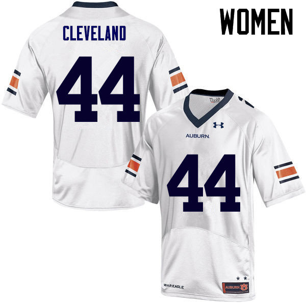 Women Auburn Tigers #44 Rawlins Cleveland College Football Jerseys Sale-White