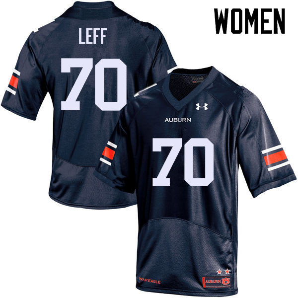 Women Auburn Tigers #70 Robert Leff College Football Jerseys Sale-Navy