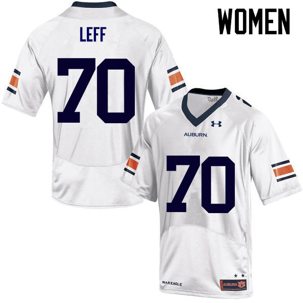Women Auburn Tigers #70 Robert Leff College Football Jerseys Sale-White