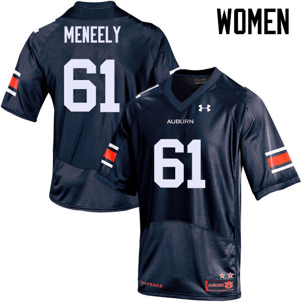 Women Auburn Tigers #61 Ryan Meneely College Football Jerseys Sale-Navy
