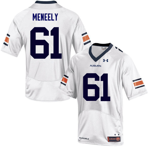 Men Auburn Tigers #61 Ryan Meneely College Football Jerseys Sale-White