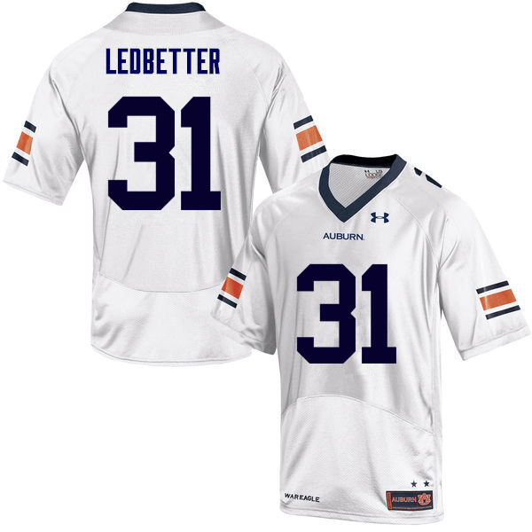 Men Auburn Tigers #31 Sage Ledbetter College Football Jerseys Sale-White