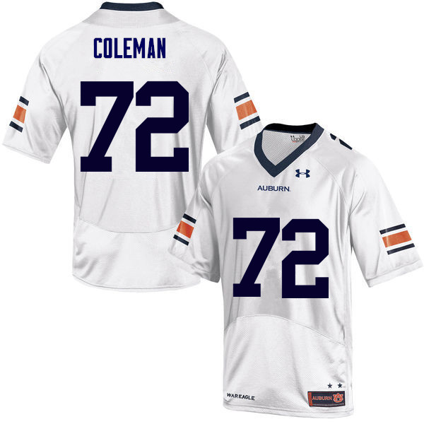 Men Auburn Tigers #72 Shon Coleman College Football Jerseys Sale-White