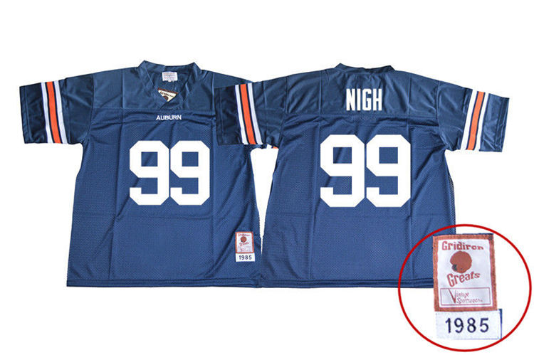 1985 Throwback Men #99 Spencer Nigh Auburn Tigers College Football Jerseys Sale-Navy