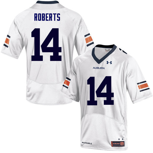 Men Auburn Tigers #14 Stephen Roberts College Football Jerseys Sale-White
