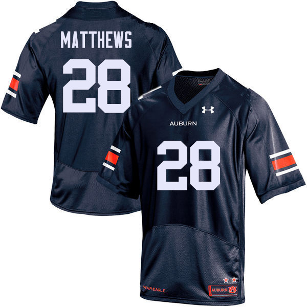 Men Auburn Tigers #28 Tray Matthews College Football Jerseys Sale-Navy