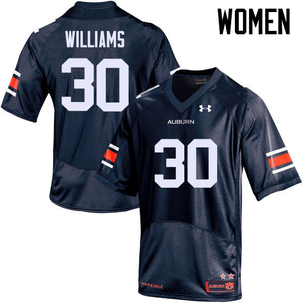 Women Auburn Tigers #30 Tre Williams College Football Jerseys Sale-Navy