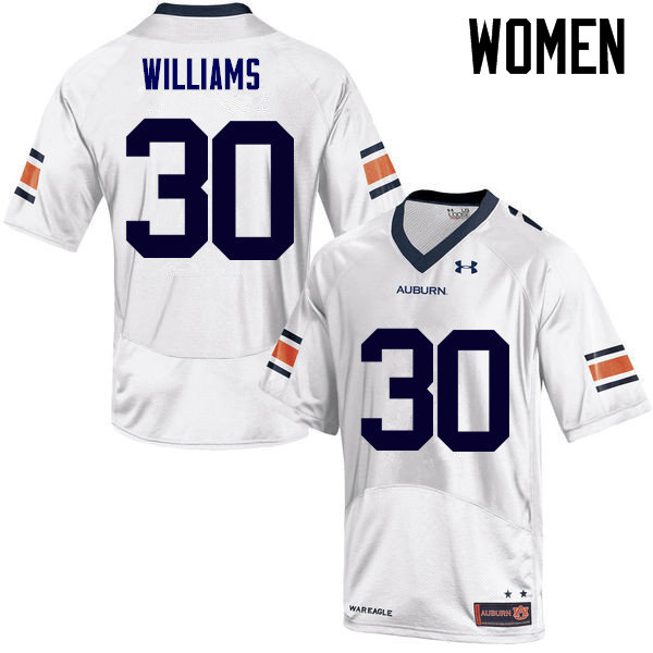 Women Auburn Tigers #30 Tre Williams College Football Jerseys Sale-White