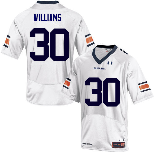 Men Auburn Tigers #30 Tre Williams College Football Jerseys Sale-White