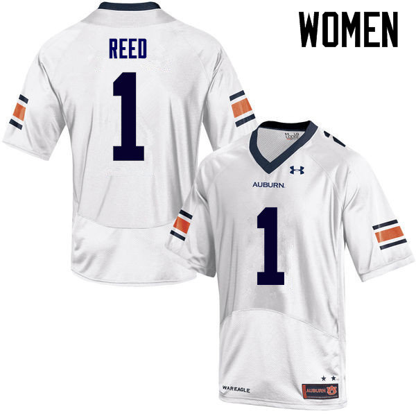 Women Auburn Tigers #1 Trovon Reed College Football Jerseys Sale-White