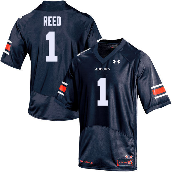 Men Auburn Tigers #1 Trovon Reed College Football Jerseys Sale-Navy