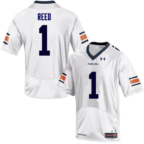 Men Auburn Tigers #1 Trovon Reed College Football Jerseys Sale-White