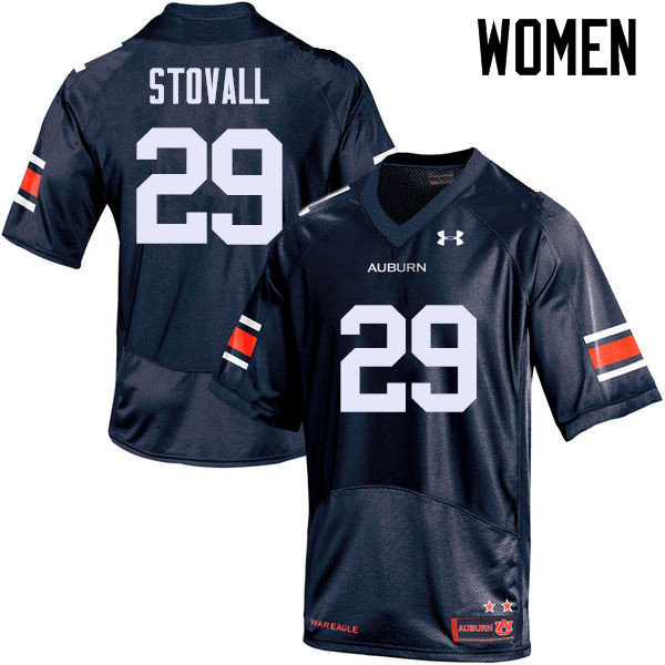 Women Auburn Tigers #29 Tyler Stovall College Football Jerseys Sale-Navy