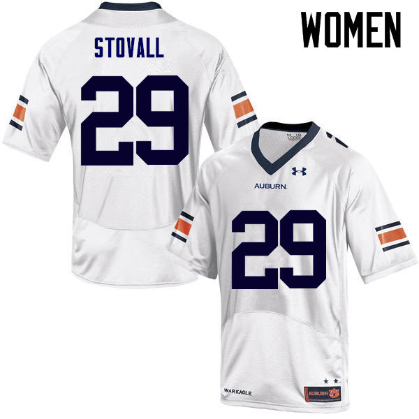 Women Auburn Tigers #29 Tyler Stovall College Football Jerseys Sale-White