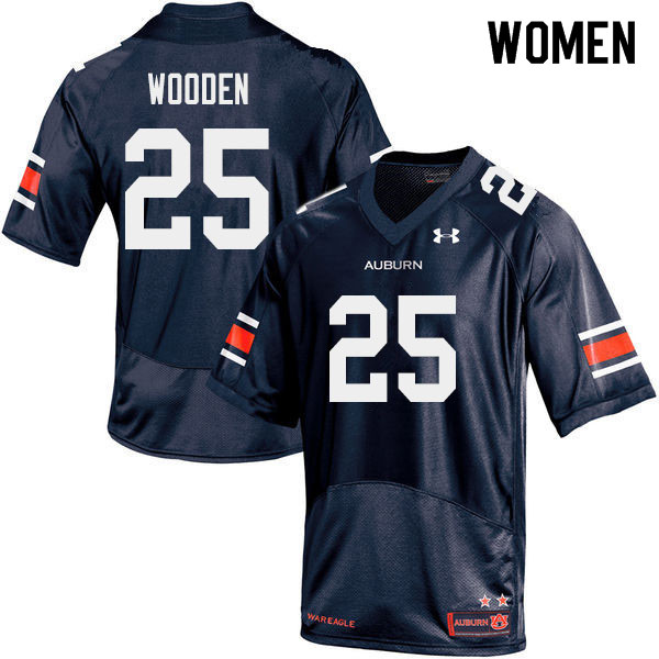 Women #25 Colby Wooden Auburn Tigers College Football Jerseys Sale-Navy