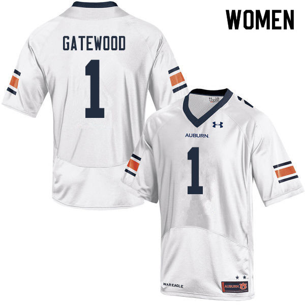 Women #1 Joey Gatewood Auburn Tigers College Football Jerseys Sale-White