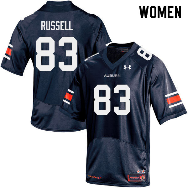 Women #83 Malcolm Russell Auburn Tigers College Football Jerseys Sale-Navy