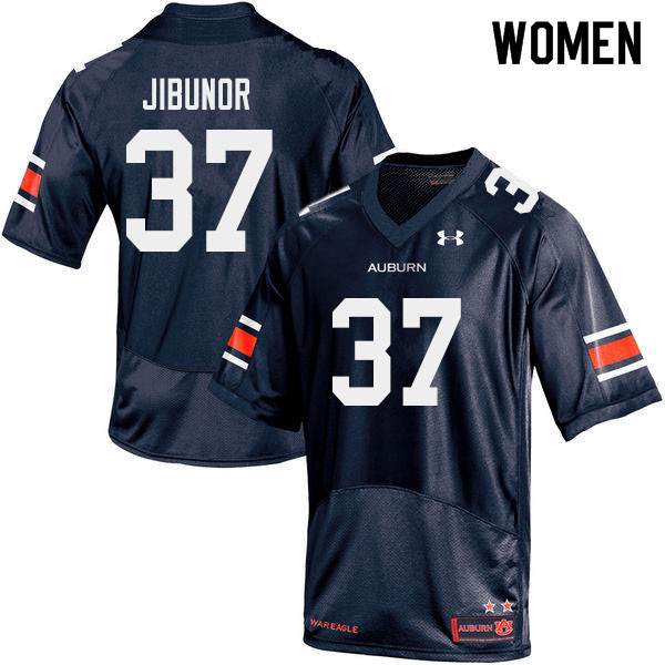 Women #37 Richard Jibunor Auburn Tigers College Football Jerseys Sale-Navy