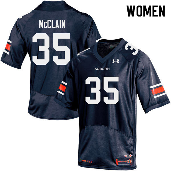 Women #35 Zakoby McClain Auburn Tigers College Football Jerseys Sale-Navy