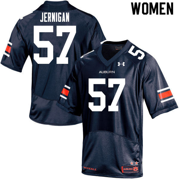 Women #57 Avery Jernigan Auburn Tigers College Football Jerseys Sale-Navy
