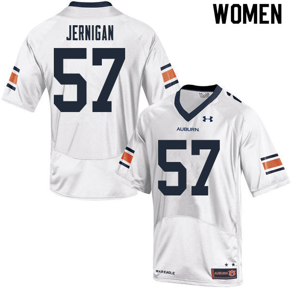 Women #57 Avery Jernigan Auburn Tigers College Football Jerseys Sale-White