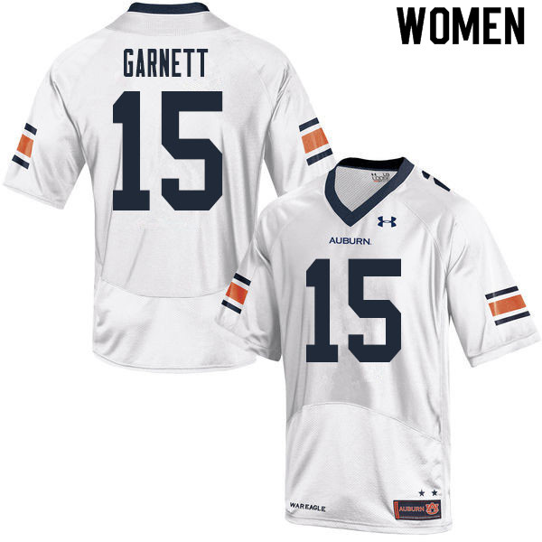 Women #15 Chayil Garnett Auburn Tigers College Football Jerseys Sale-White
