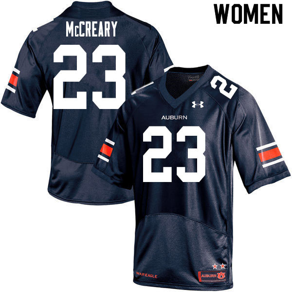 Women #23 Roger McCreary Auburn Tigers College Football Jerseys Sale-Navy