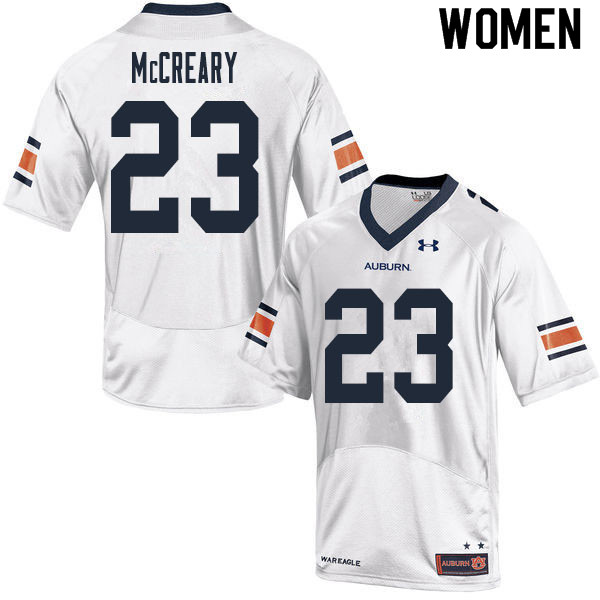 Women #23 Roger McCreary Auburn Tigers College Football Jerseys Sale-White