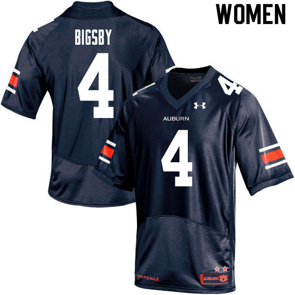 Women #4 Tank Bigsby Auburn Tigers College Football Jerseys Sale-Navy