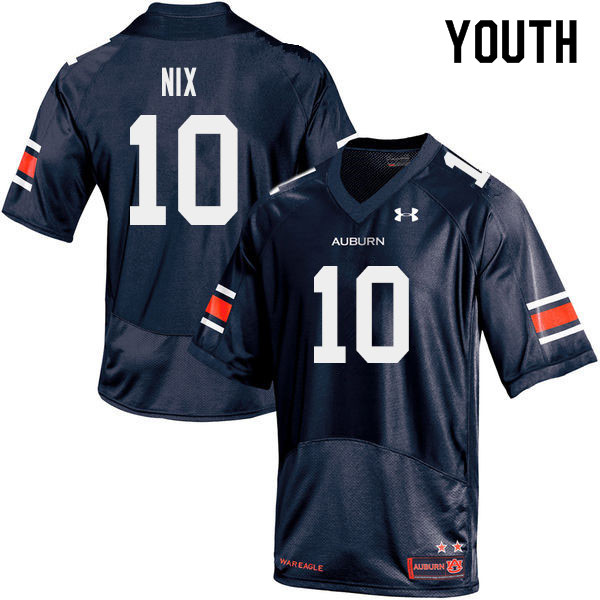Youth #10 Bo Nix Auburn Tigers College Football Jerseys Sale-Navy