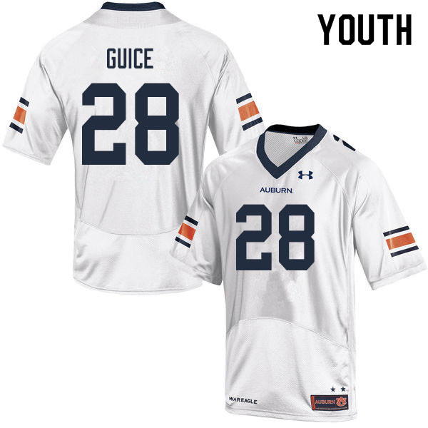 Youth #28 Devin Guice Auburn Tigers College Football Jerseys Sale-White